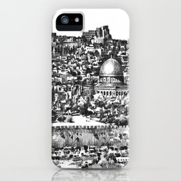 Jerusalem panorama iPhone Case