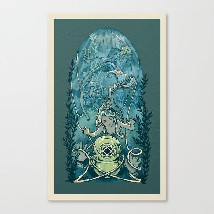 s'accrocher à l'amour Canvas Print