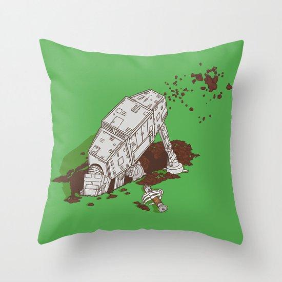In a backyard, far, far away... Throw Pillow