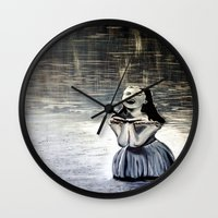 indigo Wall Clocks featuring Indigo by Terrel