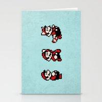 mario bros Stationery Cards featuring Super Mario Bros 3 by Brandon Riesgo