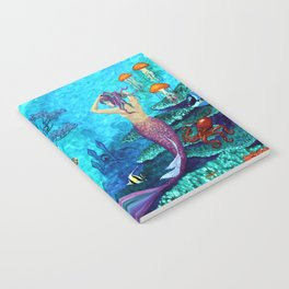 A Fish of a Different Color - Mermaid and seaturtle Notebook