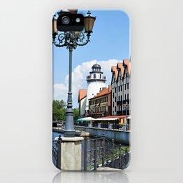 Place Fishing Village ethnographic Kaliningrad iPhone Case