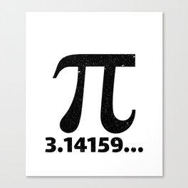 Pi 3.14159 Canvas Print