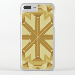 Medieval Woodwork Clear iPhone Case