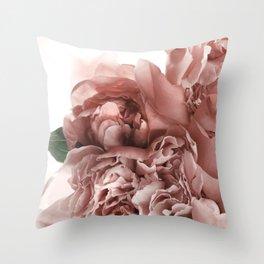 Blush Pink Floral Throw Pillow