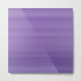 Ultra Violet Gradient Stripes Trendy Color of the year 2018 Metal Print