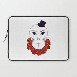 Halloween Skull in Top Hat Laptop Sleeve