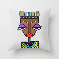 indie Throw Pillows featuring Indie by Andrea Silvestri