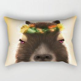 Capybara Shining Rectangular Pillow