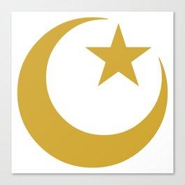 Golden Star & Crescent Canvas Print