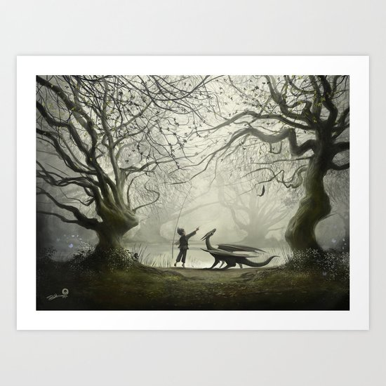 The Boy And His Dragon Art Print