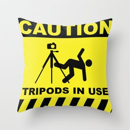 Tripod In Use Throw Pillow