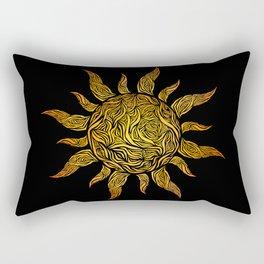 Sun Lines Rectangular Pillow