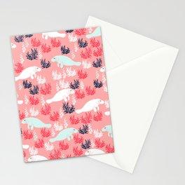 Cute Manatee Stationery Cards