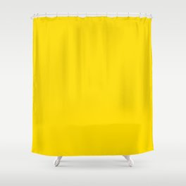 Dunn and Edwards 2019 Curated Colors Summer Sun (Bright Yellow) DE5405 Solid Color Shower Curtain