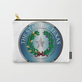 Metal Texas State Seal Carry-All Pouch