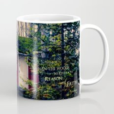 Cabin in the Woods (Emerson quote) Mug