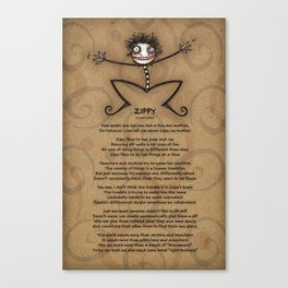 Zippy Canvas Print