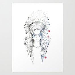 Indian woman II Art Print