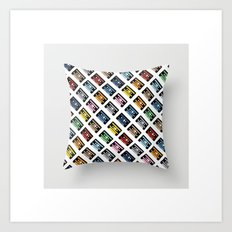 Rainbow Black 45 on White Art Print