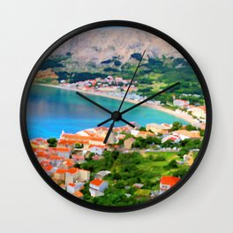 Croatia Portside Wall Clock