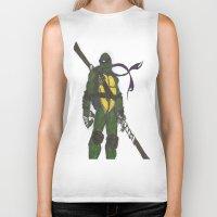 ninja turtles Biker Tanks featuring Ninja Turtles Donatello by minusblindfold