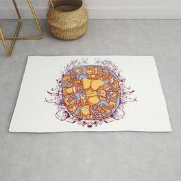 Inca design - Mayan Pinup Simbols Rug