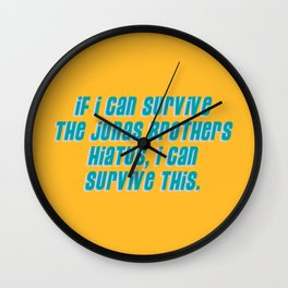 If I Can Survive The Jonas Brothers Hiatus, I Can Survive This Wall Clock