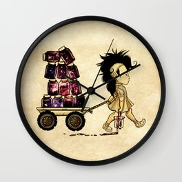 Hazy Cosmic Keepsakes Wall Clock