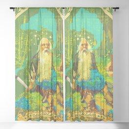 BLUE DREAM Sheer Curtain