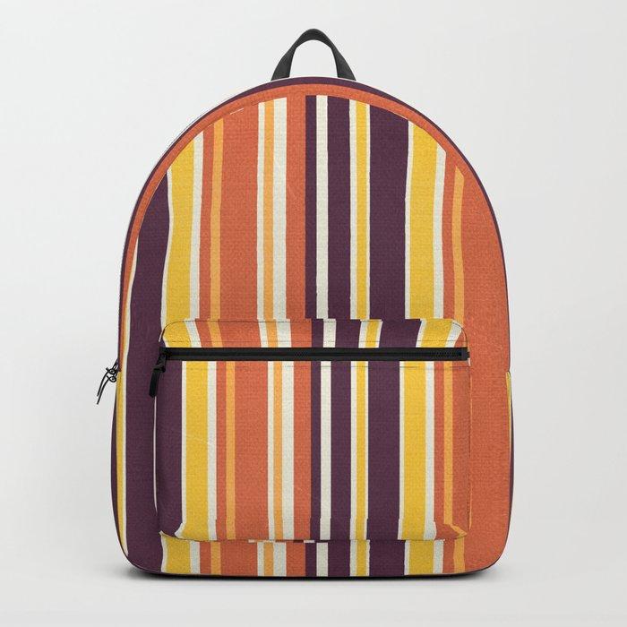 Happy Vertical LInes Backpack