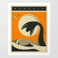 arrakis Art Prints featuring Arrakis by Jazzberry Blue