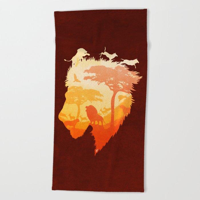 The Soul of a Lion Beach Towel