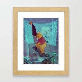 Secret Agent Calvin Hobbes: Meet Mr. Robin Framed Art Print
