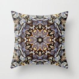 Mushroom Mandala 2 Throw Pillow
