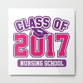 Class Of 2017 Nursing Metal Print