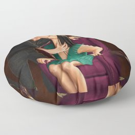 raven in a gilded cage Floor Pillow