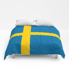 Flag of Sweden - Authentic (High Quality Image) Comforters