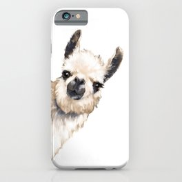 Sneaky Llama White iPhone Case