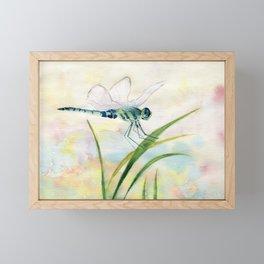 Dragonfly Watercolor  Framed Mini Art Print