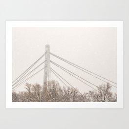 Moskovskyi Bridge in Winter Art Print