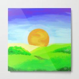 landscape sunrise Metal Print