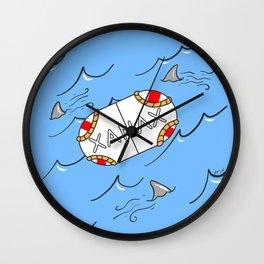 Xanax Life Raft Wall Clock
