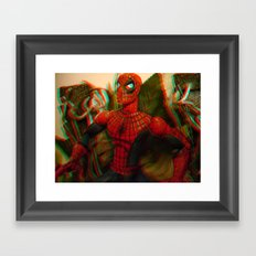 Spider-Man [In Anaglyph 3D] Framed Art Print