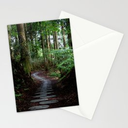 walk on the stones Stationery Cards