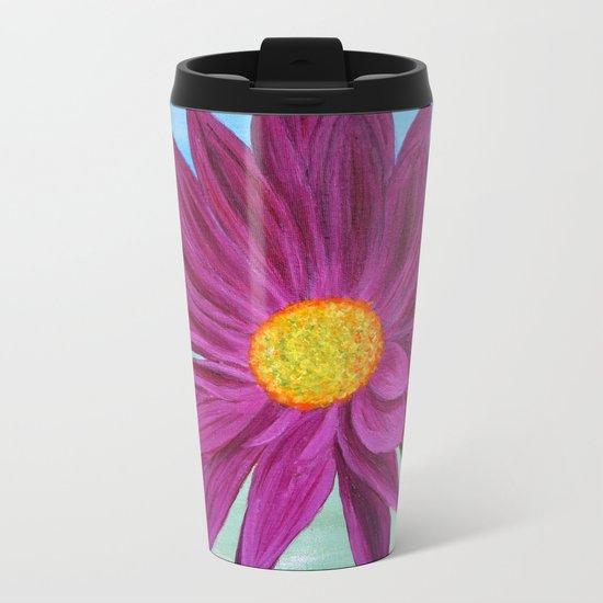 Daisy/close up Metal Travel Mug