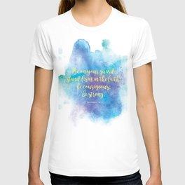 Inspiring Bible Verse, Be Courageous T-shirt