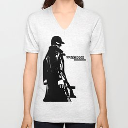 Watch dogs (aiden pearce) Unisex V-Neck