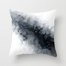 Alcohol ink slate Throw Pillow